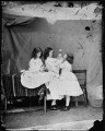 'Open your mouth, and shut your eyes' (Edith Mary Liddell; Ina Liddell; Alice Liddell), by Lewis Carroll (Charles Lutwidge Dodgson) - NPG P991(9)