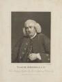 Samuel Johnson, by James Heath, published by  Longman & Co, after  Sir Joshua Reynolds - NPG D14095