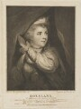 Frances Abington (née Barton) as Roxalana, by John Keyse Sherwin, published by  John Thane, after  Sir Joshua Reynolds - NPG D14220