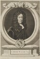 Edmund Waller, by George Vertue, after  Sir Godfrey Kneller, Bt - NPG D14319