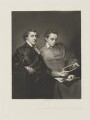 George Huddesford; John Codrington Warwick Bampfylde, by Arthur N. Sanders, published by  Henry Graves & Co, after  Sir Joshua Reynolds - NPG D14427
