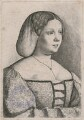 Petrarch's Laura, by Wenceslaus Hollar, after  Giorgione - NPG D18019