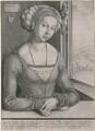 Unknown woman of the Fürleger family, by Wenceslaus Hollar, after  Albrecht Dürer - NPG D18030