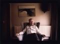 Sir Fred Hoyle, by Geoff Howard - NPG x126104