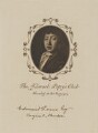Diploma of membership of the Samuel Pepys Club for Sir Edmund Gosse, after John Hayls - NPG D18073