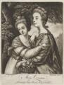 'Miss Crusses' (Elizabeth Hinchliffe (née Crewe); Emma Crewe), by Richard Brookshaw, published by  John Bowles, after  Sir Joshua Reynolds - NPG D14696