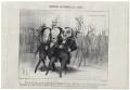 Emile de Girardin; Victor Marie Hugo; Athanase Laurent Charles Coquerel, by Honoré Daumier - NPG D18089