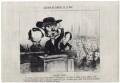 Victor Hugo; Emile de Girardin (né de la Mothe) and an unknown sitter, by Honoré Daumier - NPG D18091