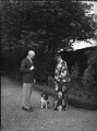 Sir Archibald Dennis Flower; Florence (née Keane), Lady Flower, by Bassano Ltd - NPG x37161