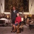 Prince Philip, Duke of Edinburgh; Queen Elizabeth II, by Terry O'Neill - NPG x126160