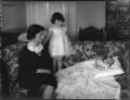 Elizabeth Joyce (née Glanley), Lady Scott; Diana Jean Fraser-Mackenzie (née Scott); Anthony Percy Scott, by Bassano Ltd - NPG x37216