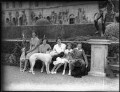 Lady Sarah Roubanis; Lady Caroline Waterhouse; Alexandra Cadogan, Duchess of Marlborough; Lady Rosemary Muir; John Spencer-Churchill, 11th Duke of Marlborough, by Bassano Ltd - NPG x81371