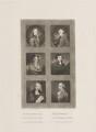 Sir Robert Fletcher; Monsieur Gaultere; Charles Lucas; General Conway; Francis Hargrave; Sir Ralph Noel Milbanke, 6th Bt, by Samuel William Reynolds, after  Sir Joshua Reynolds - NPG D14981