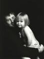 Trevor Leighton with his daughter Rosie, by Trevor Leighton - NPG x126170