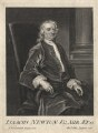 Sir Isaac Newton, by George Vertue, after  John Vanderbank - NPG D18163