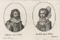 Frederick V, King of Bohemia and Elector Palatine; Princess Elizabeth, Queen of Bohemia and Electress Palatine, by Balthasar Moncornet, published by  Michel van Lochom - NPG D18169