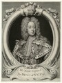 King George II when Prince of Wales, by and published by George Vertue, after  Sir Godfrey Kneller, Bt - NPG D18167