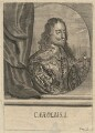 King Charles I, probably by Johann Ulrich Kraus, after  Sir Anthony van Dyck - NPG D18226