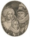 Anne of Denmark; King Charles I when Prince of Wales; King James I of England and VI of Scotland, by Simon de Passe - NPG D18185
