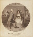 'Lingo and Cowslip' (John Edwin the Elder; Mary Stephens Wells (née Davies)), by Edmund Scott, published by  James Birchall, after  Henry Singleton - NPG D15108
