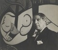 Pablo Picasso with his painting of Marie Thérèse Walter (1932 Nude, Green Leaves and Bust), by Cecil Beaton - NPG x40326