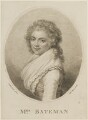 Mrs Bateman, by and published by Marino or Mariano Bovi (Bova), after  Ludwig Guttenbrun - NPG D15293