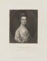 Mrs Egerton, by James Scott, published by  Henry Graves, after  Thomas Gainsborough - NPG D15470