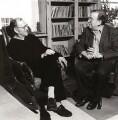 Harold Pinter; Sir Ronald Harwood, by Lucinda Douglas-Menzies - NPG x126239