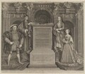 King Henry VIII; King Henry VII; Elizabeth of York; Jane Seymour, by George Vertue, after  Remigius van Leemput, after  Hans Holbein the Younger - NPG D18545