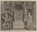 King Henry VIII; King Henry VII; Elizabeth of York; Jane Seymour, by George Vertue, after  Remigius van Leemput, after  Hans Holbein the Younger - NPG D18545