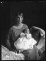 Joan Florence Mary (née Grimston), Lady Newman; Cecil Hugh Grimston Newman, by Bassano Ltd - NPG x37103