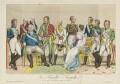 'La famille royale et les alliées s'occupant du bonheur de l'Europe', published by Décrouant - NPG D15837
