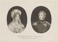 Marie Thérèse Charlotte, duchesse d'Angoulême; Louis Antoine de Bourbon, duc d'Angoulême, by Unknown artist - NPG D15840