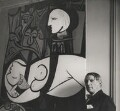 Pablo Picasso with his painting of Marie-Thérèse Walter ('Nude, Green Leaves and Bust', 1932), by Cecil Beaton - NPG x40327