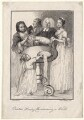 John Henley with five unknown figures, by Jane Ireland, after  William Hogarth - NPG D18627