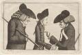 Henry Home, Lord Kames; Hugo Arnot; James Burnett, Lord Monboddo, by John Kay - NPG D18640