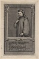 Geoffrey Chaucer, by George Vertue, after  Unknown artist - NPG D16238
