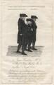 James Hamilton; John Wesley; Joseph Cole, by Consitt & Goodwill, after  John Kay - NPG D16248