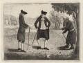 Hon. Basil Cochrane; James Edgar; a beggar, by John Kay - NPG D16273