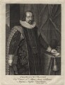 Francis Bacon, 1st Viscount St Alban, by George Vertue, after  Paul van Somer - NPG D16253