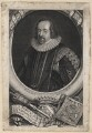 Francis Bacon, 1st Viscount St Alban, by George Vertue, after  Paul van Somer - NPG D16249