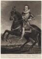 King James I of England and VI of Scotland, by Charles Turner, published by  Samuel Woodburn, after  Francis Delaram - NPG D16276