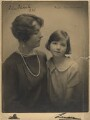 Countess of Ilchester with her daughter, by Lenare - NPG x126418