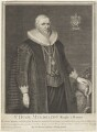 Sir Hugh Myddelton, 1st Bt, by George Vertue, after  Cornelius Johnson - NPG D19150