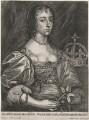 Henrietta Maria, by Johannes Meyssens, after  Sir Anthony van Dyck - NPG D16481