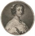 Henrietta Maria, by Simon François Ravenet, after  Sir Anthony van Dyck - NPG D16484