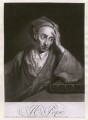 Alexander Pope, by George White, sold by  Samuel Sympson, after  Sir Godfrey Kneller, Bt - NPG D16489