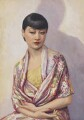Anna May Wong, by Dorothy Wilding, hand-coloured by  Beatrice Johnson - NPG x44636