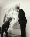 Maggi Hambling; Max Wall, by Prudence Cuming - NPG x126500