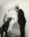 Maggi Hambling; Max Wall, by Prudence Cuming - NPG x126500